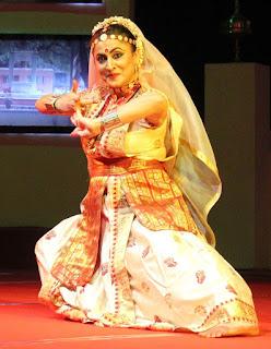 Dr. Mallika Kandali performing Sattriya dance