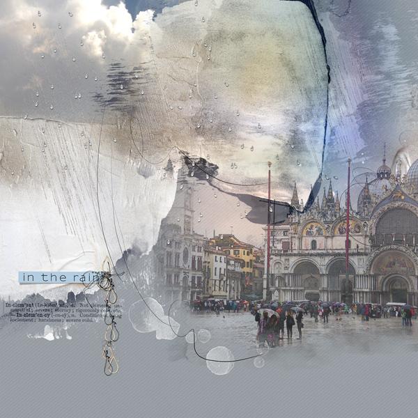 Place saint Marc, sous la pluie clin d'oeil design