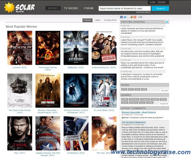 Top 15 Websites To Watch Free Movies Online Technology Raise