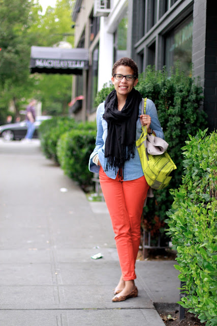 Kim Thomas Orange Pants Seattle Street Style Baltic Room