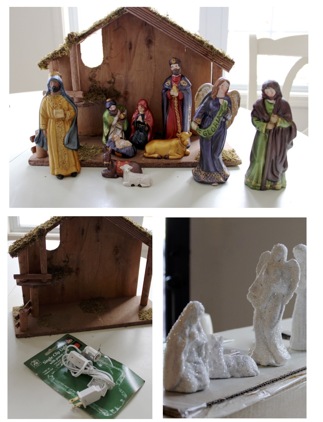 The yellow cape cod december 2014 illuminated glittered nativity set makeoverdiy solutioingenieria Choice Image