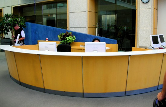 Apple HQ reception desk images