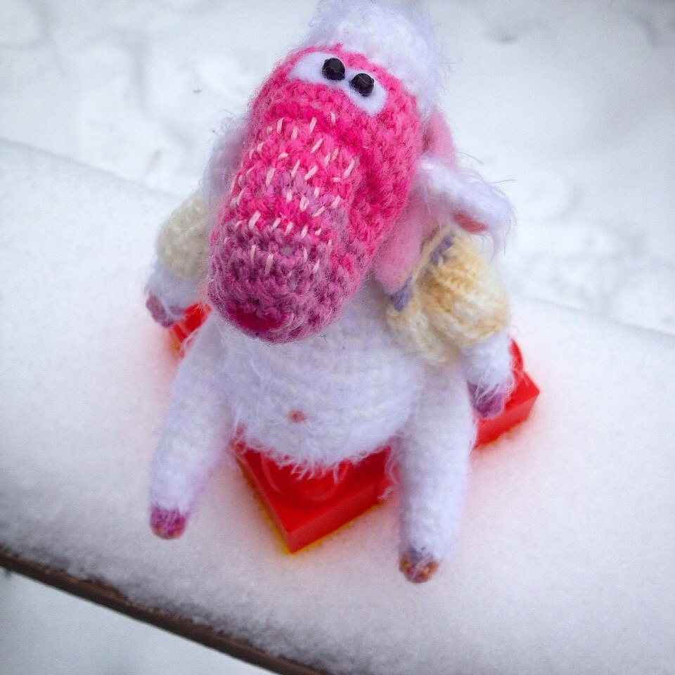 sheep crocheted