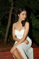 Tridha Chowdhury Sexy Pic in White Dress
