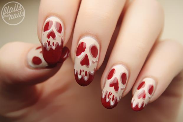 snow white poison apple nail art