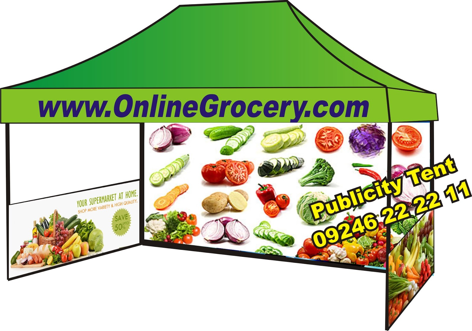 Onlone Grocery Business - Publicity and Advertising products for Online grocery business Marketing demo tent with printing and Designing call 91 9246 22 22 ...  sc 1 st  online grocery marketing tents advertising products for online ... : business tents - memphite.com