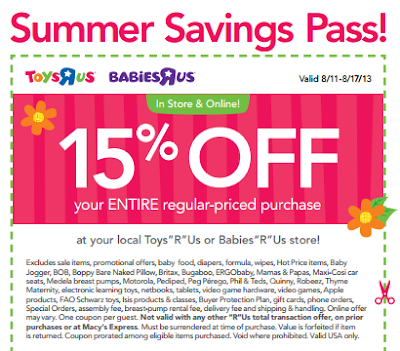 image regarding Printable Babies R Us Coupons named ToysRUs/BabiesRUs- Choose 15% Off Finish Obtain w/ Printable