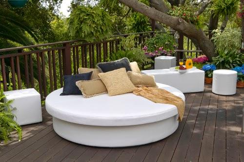modern outdoor lounge bed model