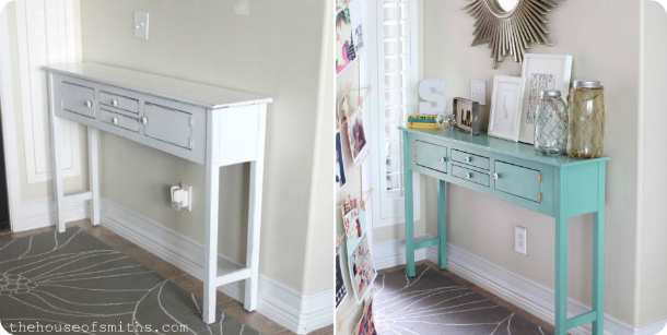 Entryway Table Makeover - thehouseofsmiths.com