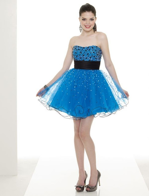 Satin and Organza Strapless Short Skirt with Beaded Style