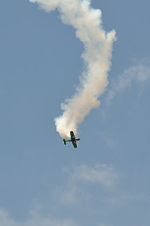 a close up picture of Gary Ward Aerobatics show at the Evansville Freedom Festival
