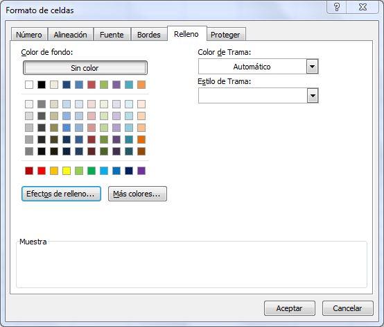 excel n\' cia: Combinar colores en la celda