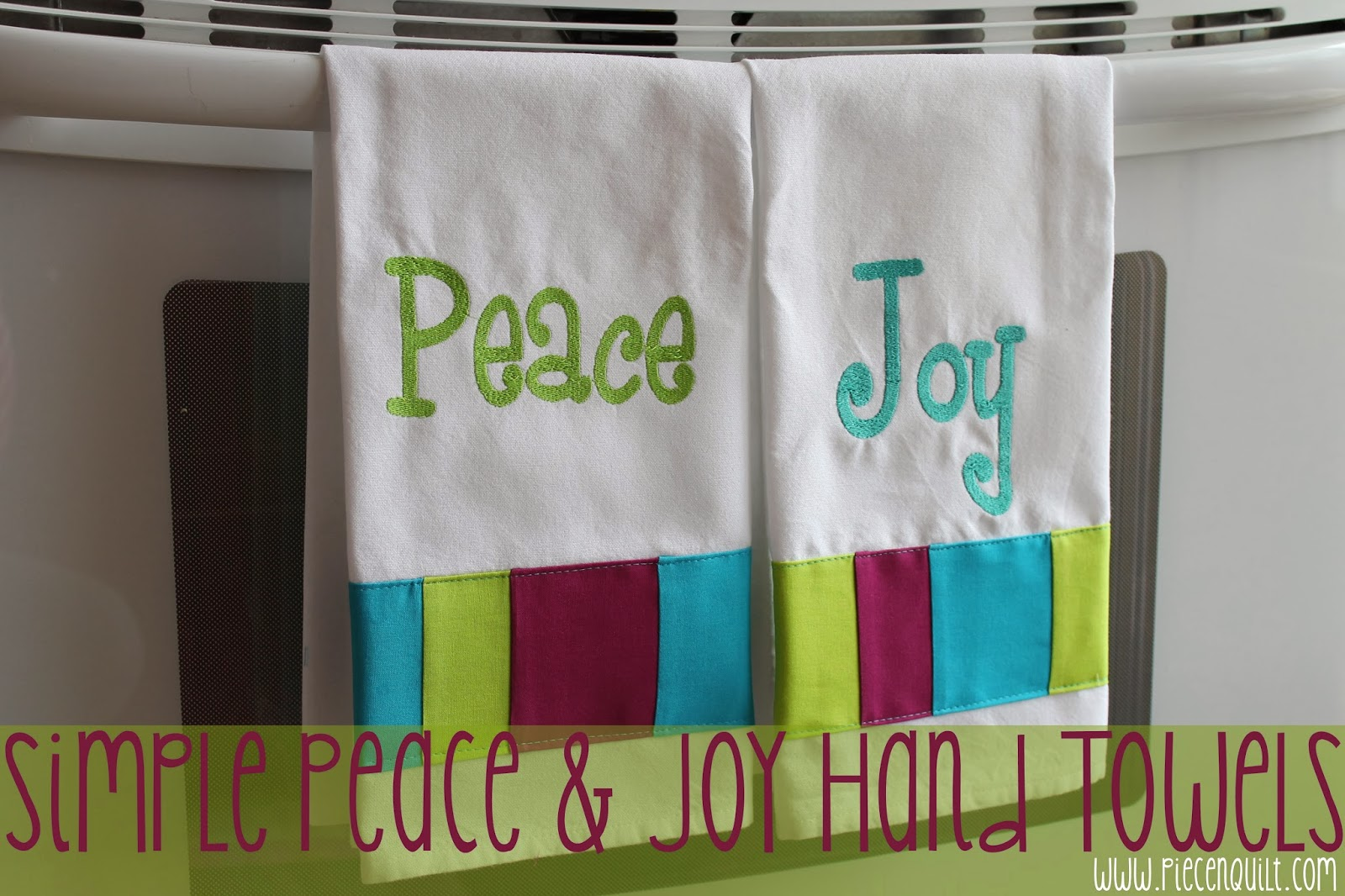 Piece n quilt simple peace joy hand towels - Seven mistakes we make when using towels ...