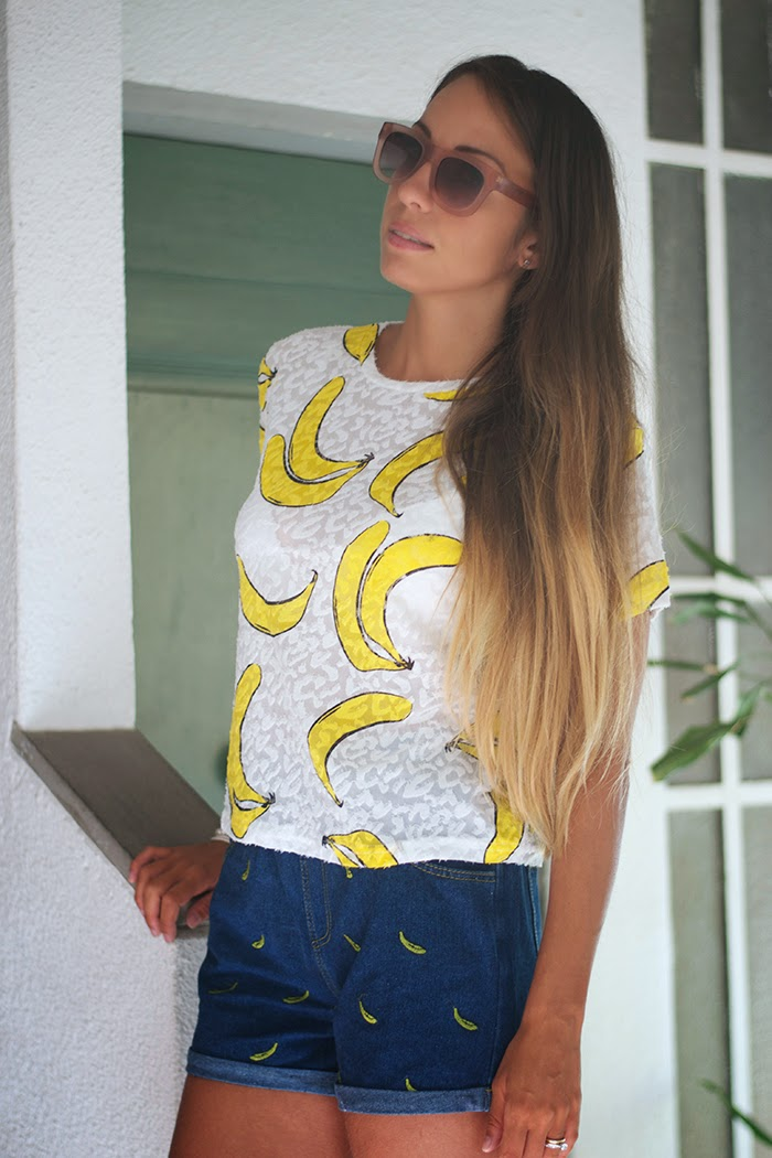 maglietta stampa banana