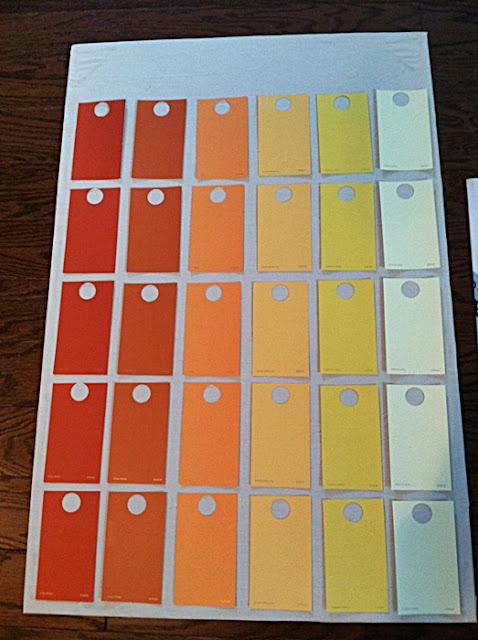 Diy Calendar Paint Chips : Eat sleep decorate diy paint chip calendar