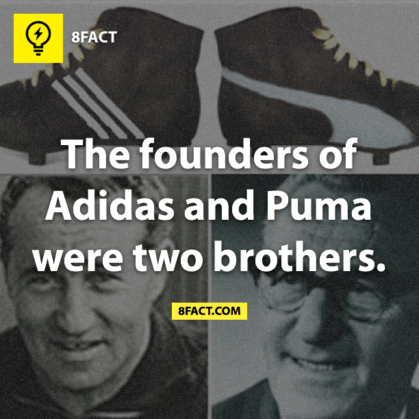facts : The founders of Adidas and Puma were two brothers.
