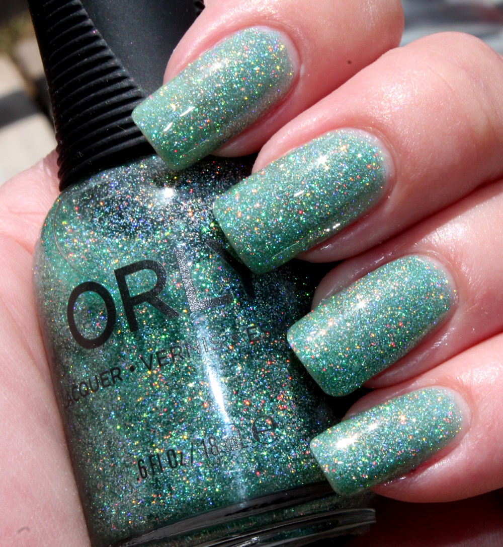 Orly Sparkling Garbage - outdoor lighting (overcast)