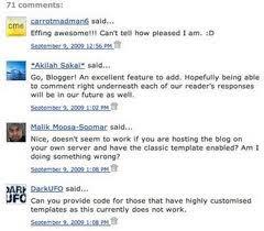 Menampilkan foto profil pada komentar blog