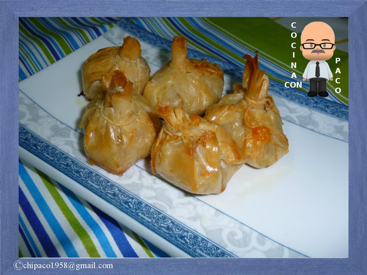 Cocina con paco rollo de pasta filo con pollo - Que hacer con la pasta filo ...