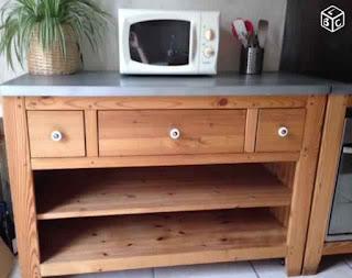 Meuble de cuisine en bois alinea