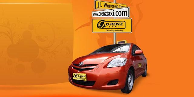 armada mobil taksi orenz berwarna orange