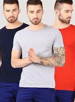 Buy phosphorus-3-Pack-Of-Crew-Neck-Half-Sleeve-T-Shirt at jabong