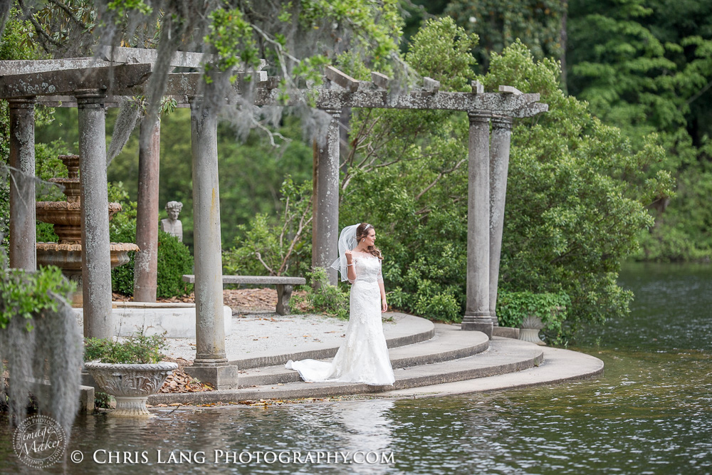 Airlie Gardens Weddings. Image of bride in her wedding dress