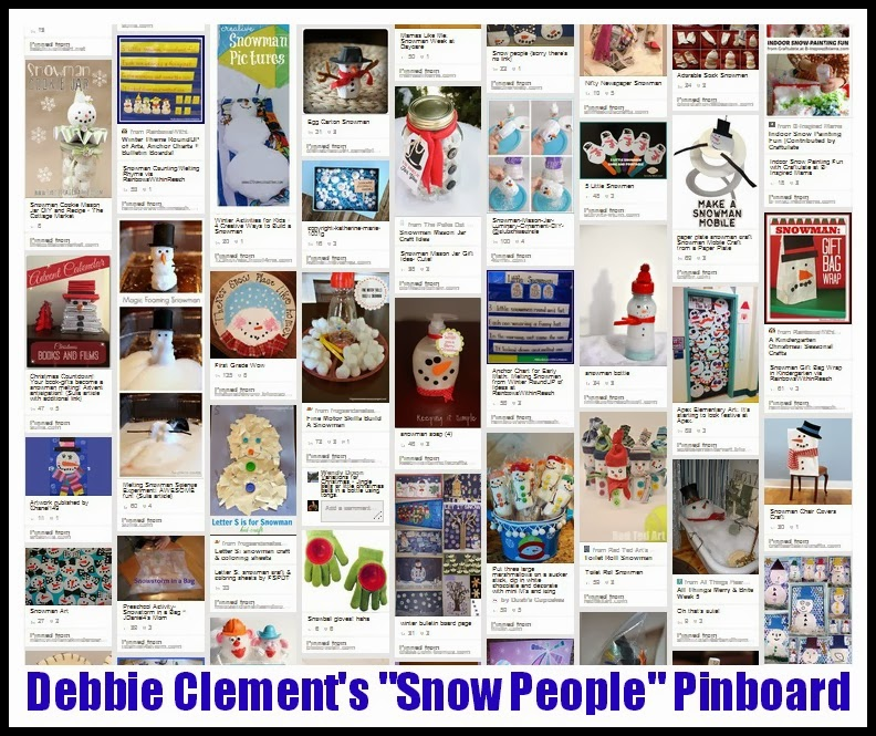"Debbie Clement's ""Snow People"" Pinboard with 300+ Pins"