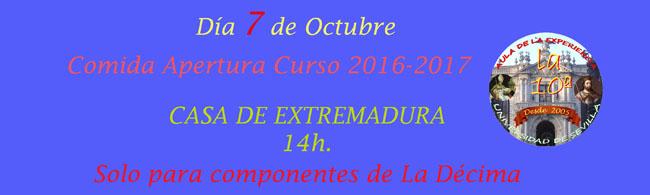 INSCRIPCION COMIDA APERTURA CURSO