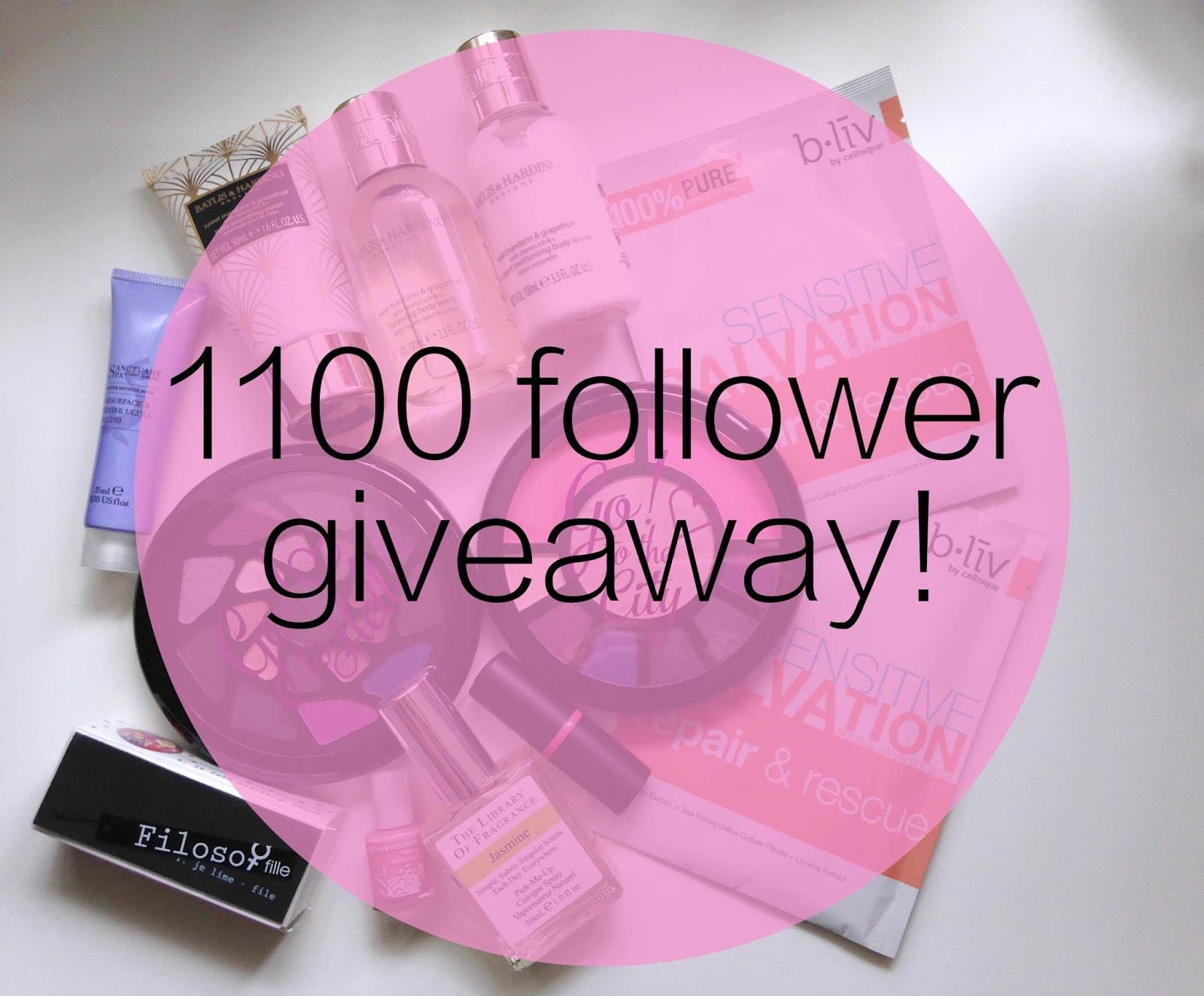 1100 follower giveaway!