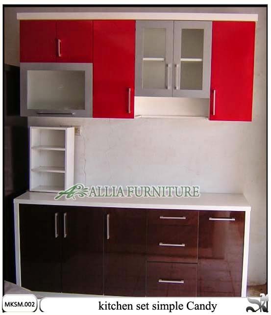 kitchen set minimalis model simple candy