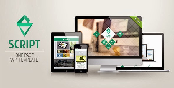 Responsive One Page WordPress Template