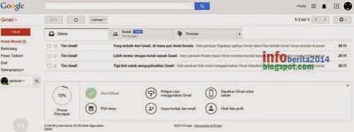 tampilan gmail terbaru