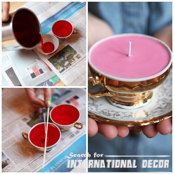 Creative recycle ideas, recycle ideas, recycle cups,make candles