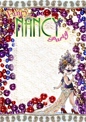 Fancy Nancy Background Free Printable Party Invitation