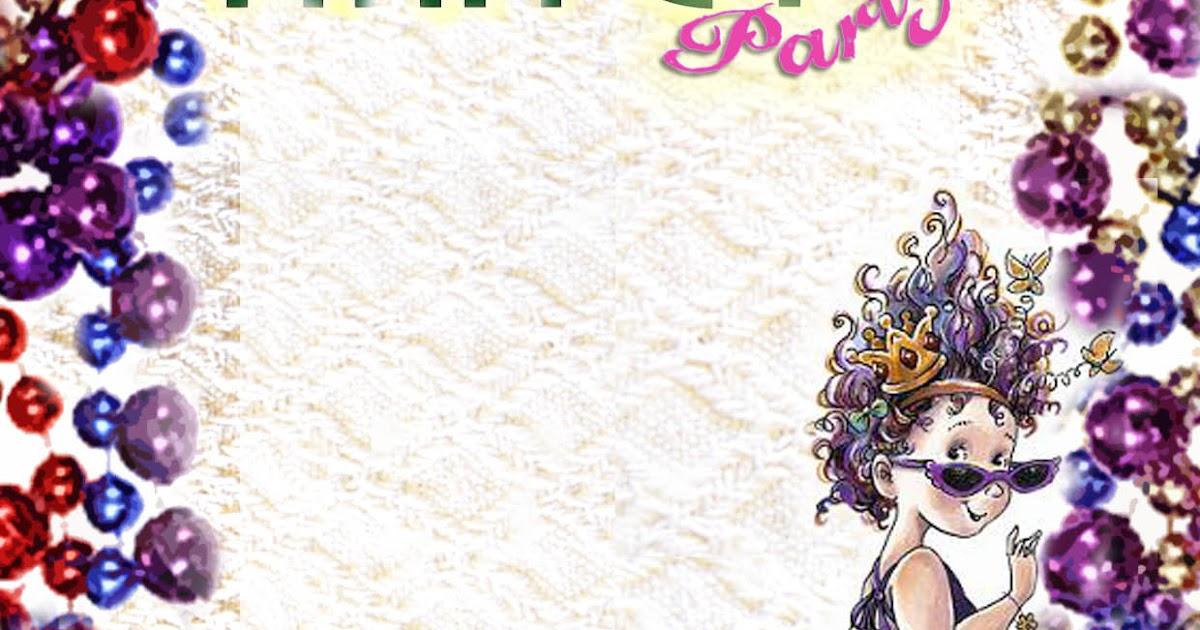 FREE Kids Party Invitations: Fancy Nancy Printable Invitation (self ...