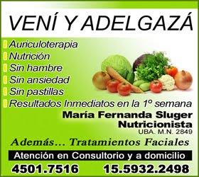 VENÍ Y ADELGAZÁ - Lic. M. Fernanda Sluger, Nutricionista
