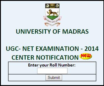 Madras University (UNOM Chennai Centre Code-36) CBSE UGC NET 28th December 2014 Sub Venue Notification