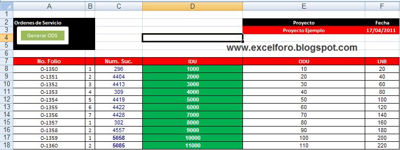 VBA: Macro para crear y duplicar hojas en Excel.   EXCEL FORO ...