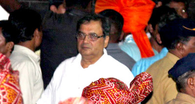 Subhash Ghai at Salman Khan's Ganpati visarjan stills