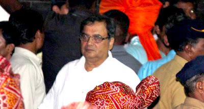 Subhash Ghai at Salman Khan's Ganpati visarjan stills