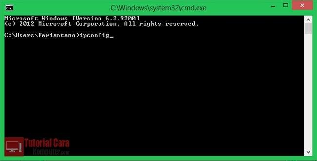 Cara Mengetahui IP Address Private (Local) Komputer - TutorialCaraKomputer.com