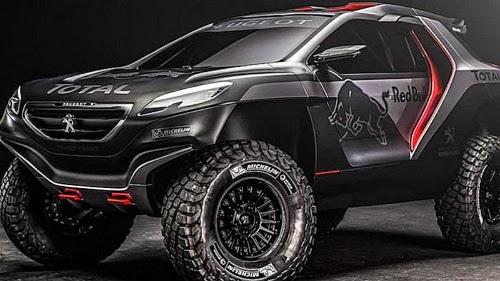 Buasnya Sosok Kuda Besi Peugeot Terabas Medan Rally Dakar 2015