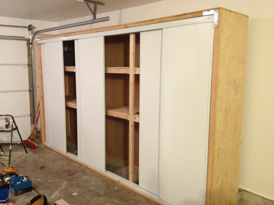 DIY Garage Storage Cabinets with Doors