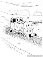 Dengan Keretanya Thomas Berjalan Mengelilingi Kota Sodor