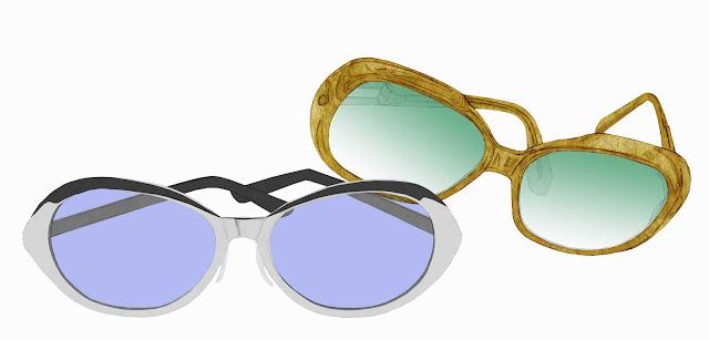 gafas de sol, dibujo, coleccion , museo etnologia