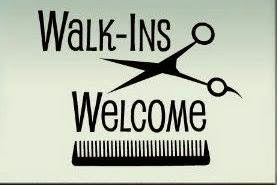 Walk-ins are welcome