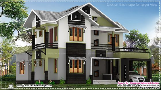 185 Square Meter 4 Bedroom House Design Home Kerala Plans