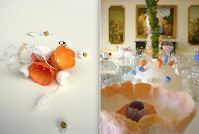 matrimonio ecologico in stile vittoriano a villa miani, tavolo confettata