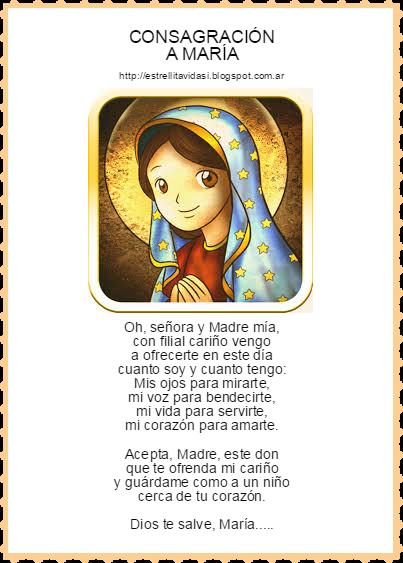 ♥Consagración a la Virgen María